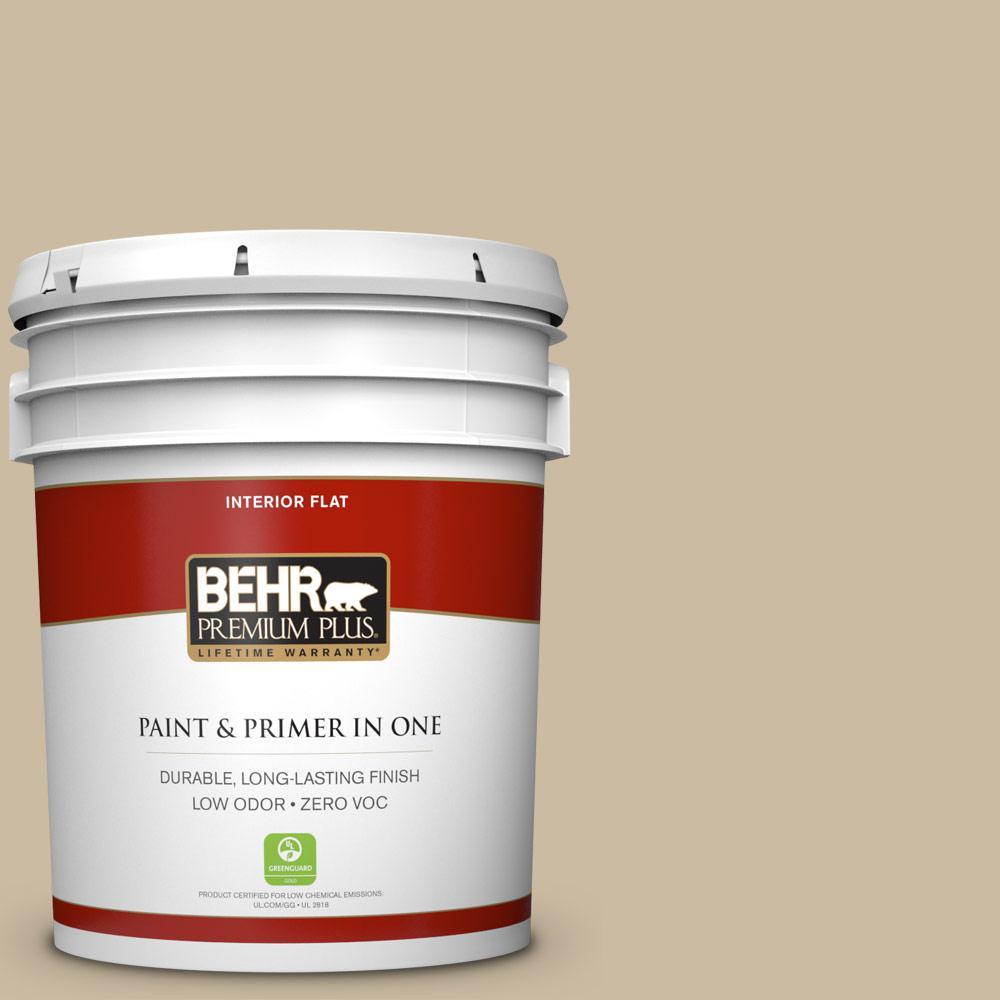 BEHR Premium Plus 5-gal. #710C-3 Gobi Desert Zero VOC Flat Interior Paint