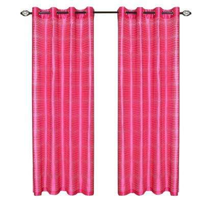 Fuschia Maggie Grommet Curtain Panel, 108 in. Length