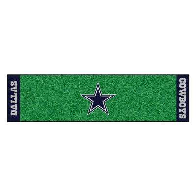NFL Dallas Cowboys 1 ft. 6 in. x 6 ft. Indoor 1-Hole Golf Practice Putting Green
