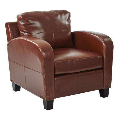 brown faux leather fabric accent chairs chairs the home depot