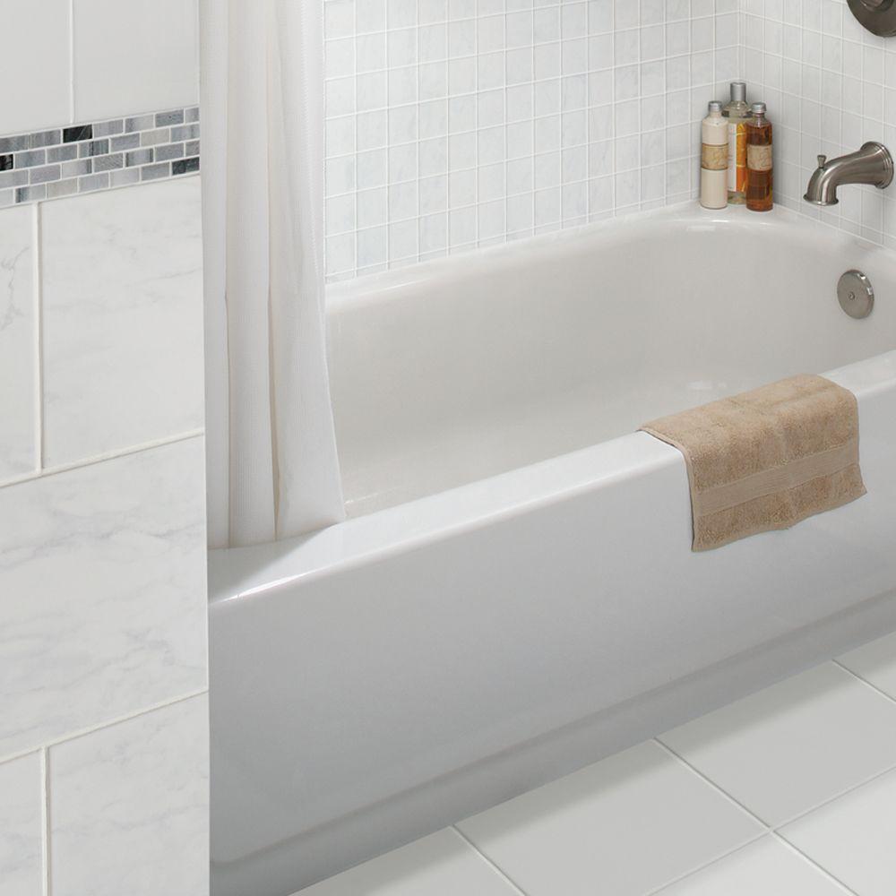 Marissa Carrara 3 in. x 10 in. Ceramic Bullnose Wall Tile (0.208 sq. ft./ piece)