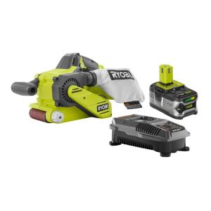 Ryobi 18-Volt ONE+ Cordless Lithium-Ion Brushless Belt Sander Kit with (1) 4.0Ah Battery and Charger by Ryobi
