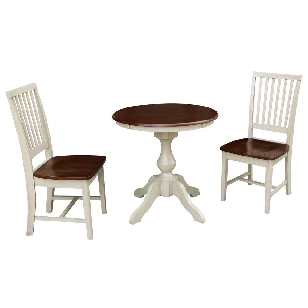 International Concepts Sophia 3-Piece Almond and Espresso...