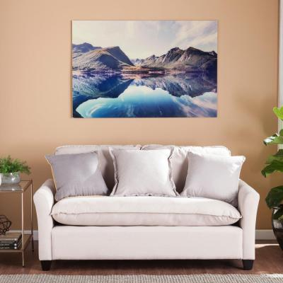 32 H x 47 W The Silent Reflection Glass Wall Art
