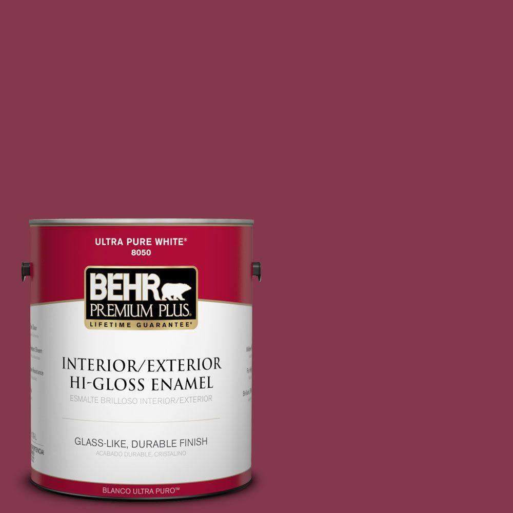 BEHR Premium Plus 1-gal. #S-H-100 Exotic Flowers Hi-Gloss Enamel Interior/Exterior Paint