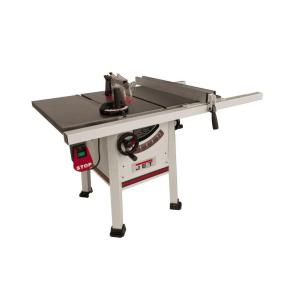 JET 1.75 HP 10 inch Proshop Table Saw with 30 inch Fence, Cast Iron Wings and Riving Knife, 115/230-Volt,... by JET