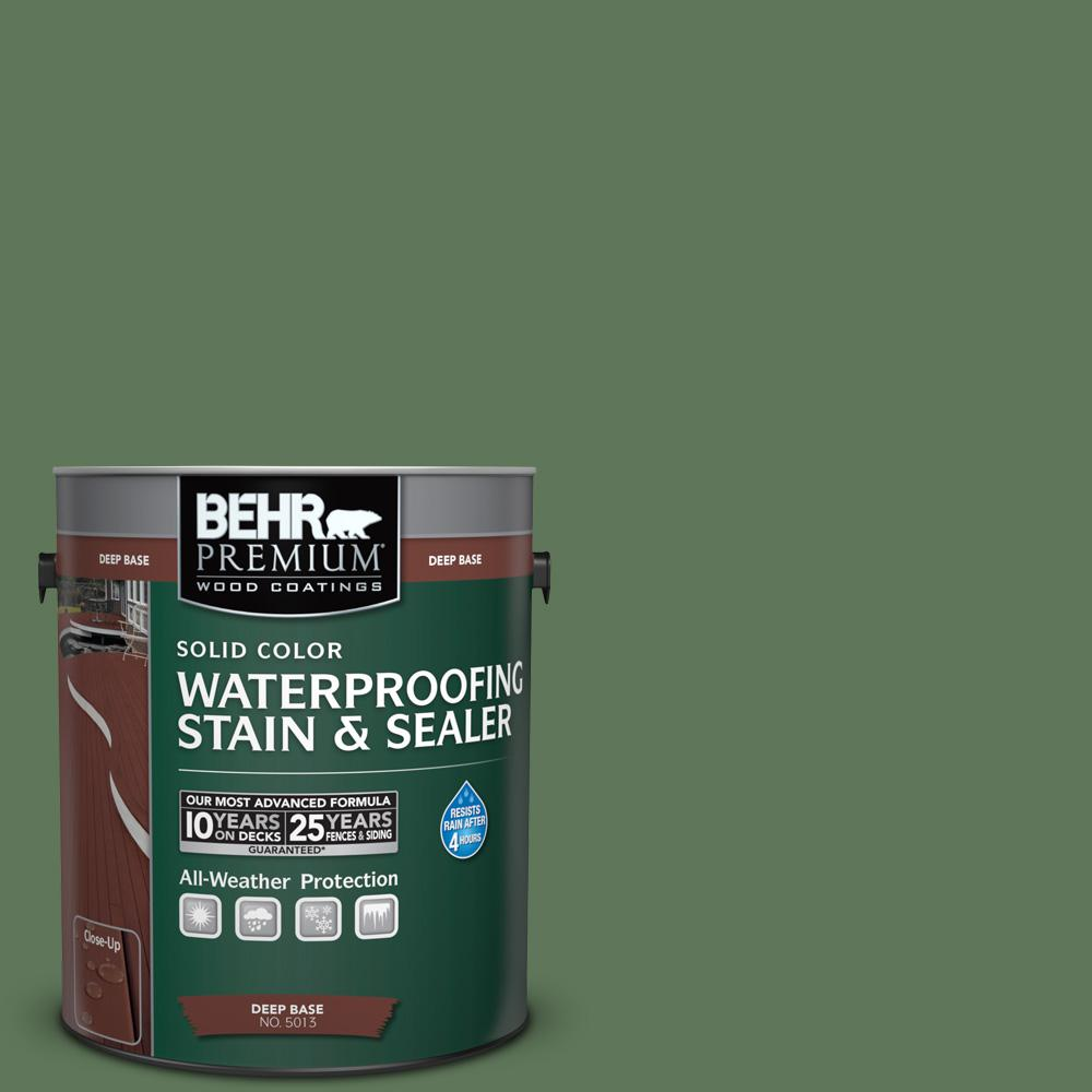 1 gal. #SC-126 Woodland Green Solid Color Waterproofing Stain and Sealer
