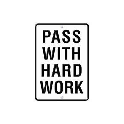 Pass with Hard Work Large Poster