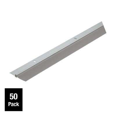 Single Seal 1-3/4 in. x 36 in. Gray Aluminum and Vinyl Door Sweep Contractor Pack of 50