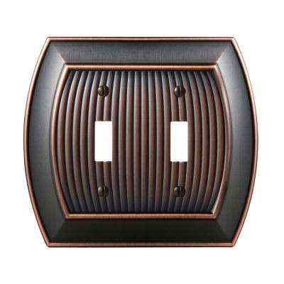 Sea Grass 2-Toggle Wall Plate, Oil-Rubbed Bronze