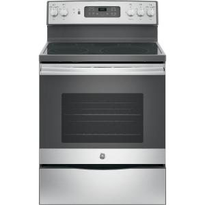 Click here to buy GE 30 in. 5.3 cu. ft. Electric Range with Self-Cleaning Convection Oven in Stainless Steel by GE.