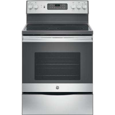 30 in. 5.3 cu. ft. Electric Range with Self-Cleaning Convection Oven in Stainless Steel