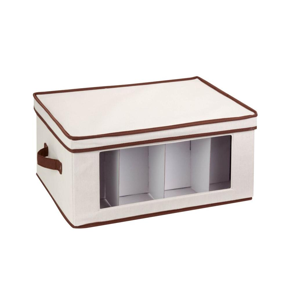 Honey-Can-Do Natural Canvas 17.6 in. x 10.6 in. Organizer