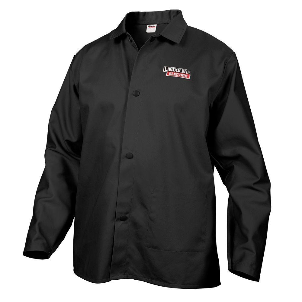 Fire Resistant X-Large Black Cloth Welding Jacket