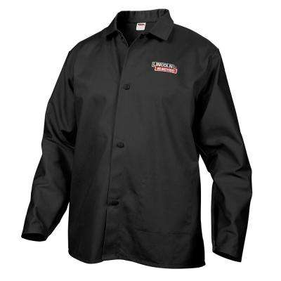 Fire Resistant X-Large Black Cloth Welding Jacket