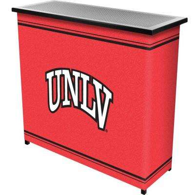 UNLV 2-Shelf Black Bar with Case
