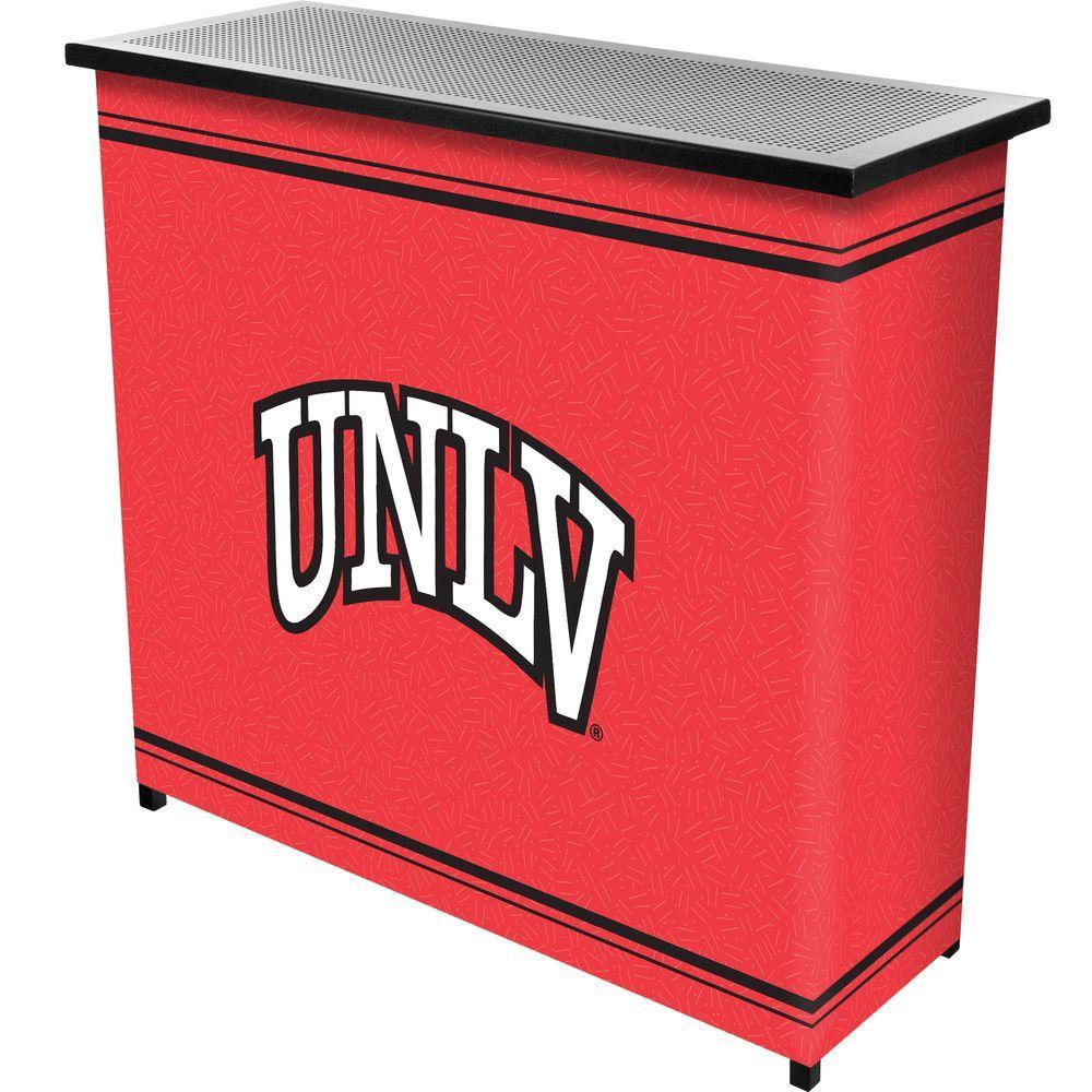 UNLV 2-Shelf Black Bar with Case