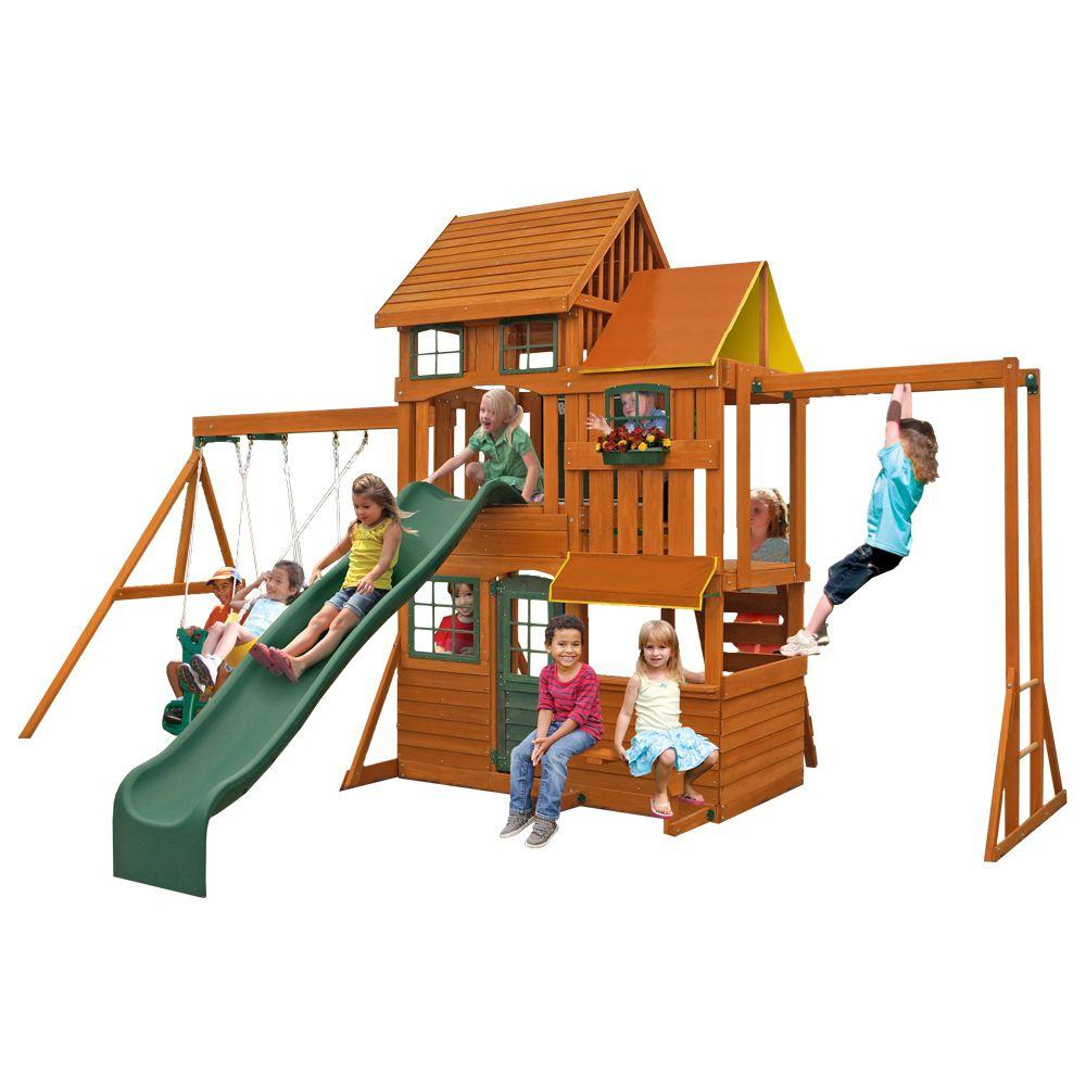 Cedar Summit Barrington Playset, Browns/Tans