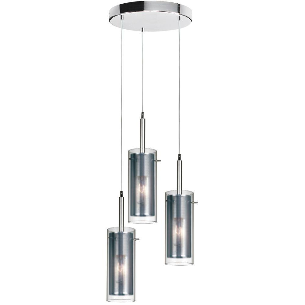 Cathrine 3 Light 11 in. Polished Chrome Pendant