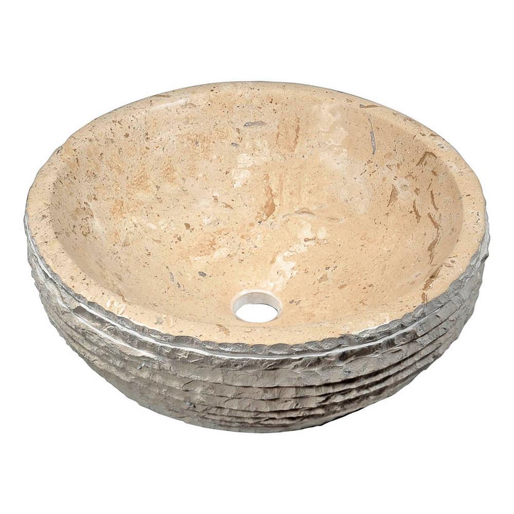 Solon Vessel Sink in Classic Cream Marble