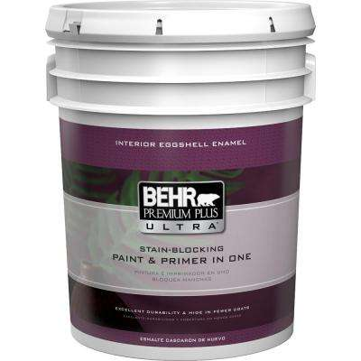 5 gal. Ultra Pure White Eggshell Enamel Interior Paint
