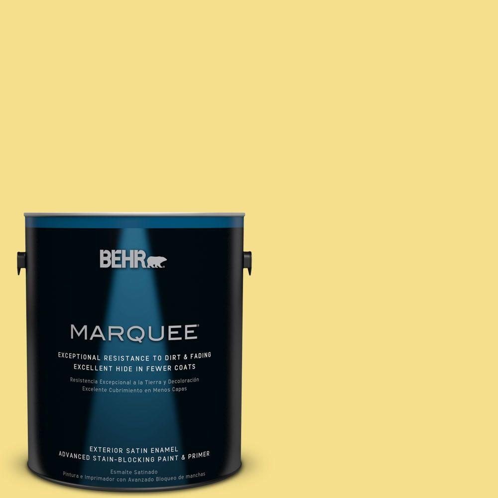 1 gal. #HDC-SP16-03 Lemon Curd Satin Enamel Exterior Paint