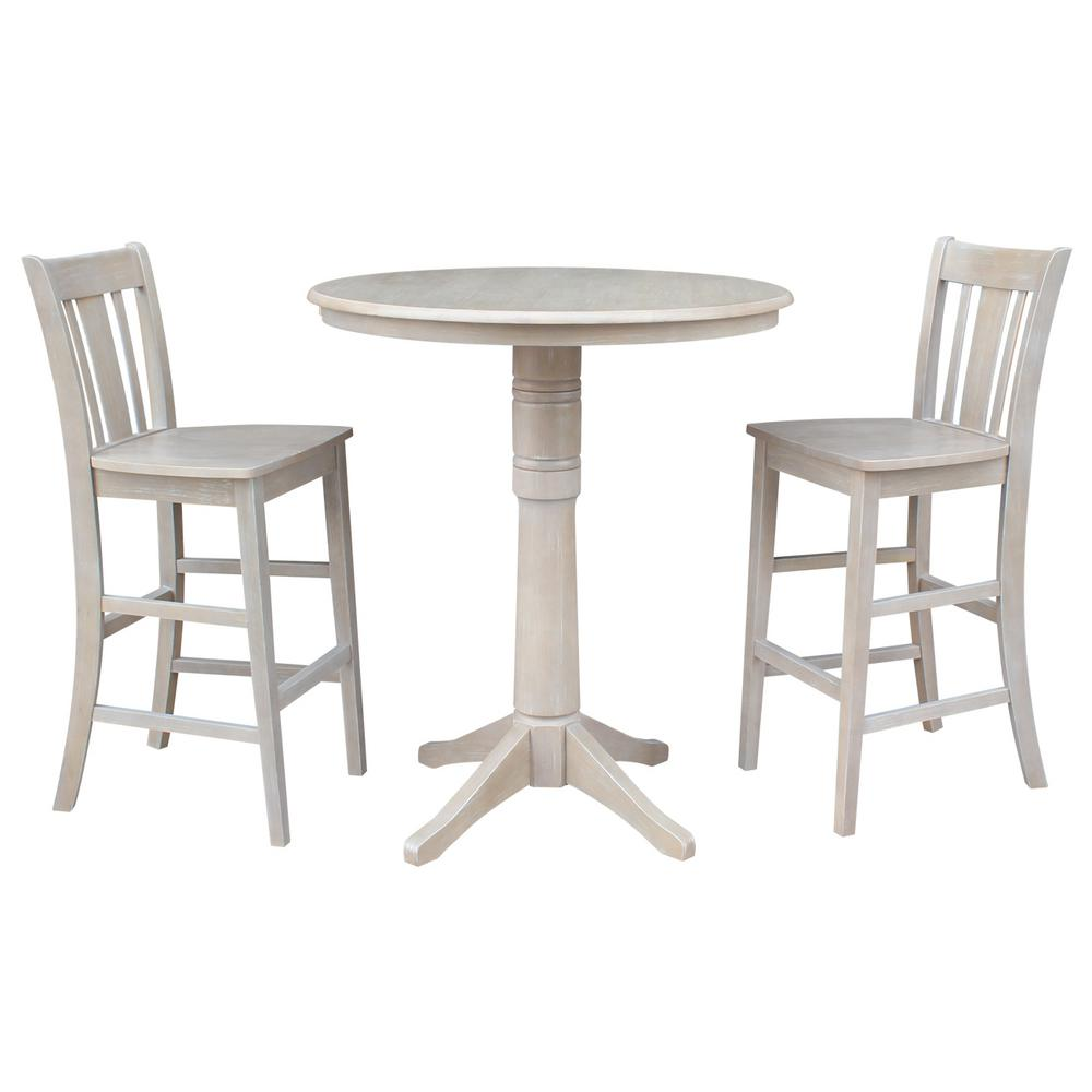 International Concepts 3 Piece 36 In. Round 42 In. High Weathered Gray  Olivia