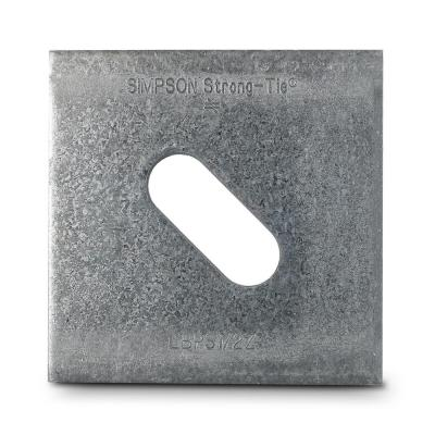 LBPS 3 in. x 3 in. ZMAX Galvanized Slotted Bearing Plate with 1/2 in. Bolt Dia.