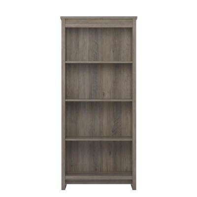 Amherst Gray Oak 4-Shelf Bookcase