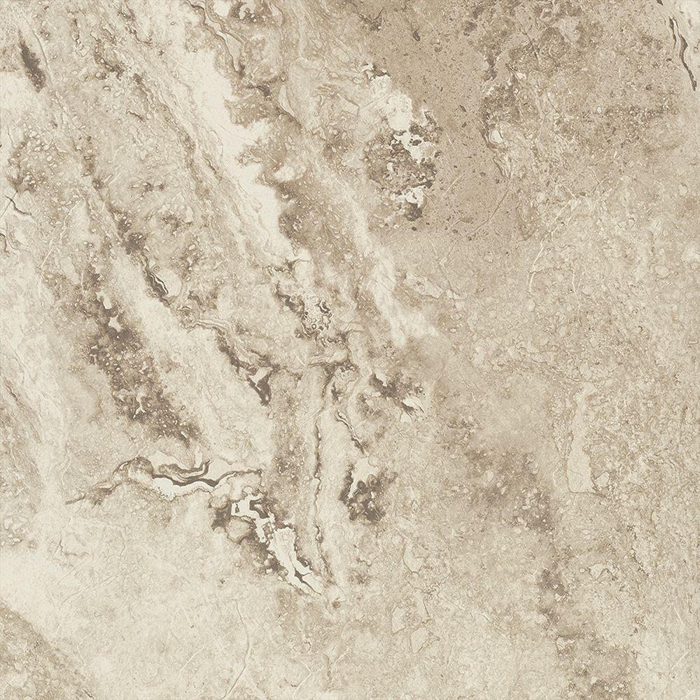 Trafficmaster Groutable Light Travertine 18 In Width X 18