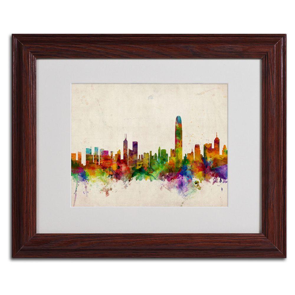 11 In. X 14 In. Hong Kong Skyline Matted Framed Art-MT0184