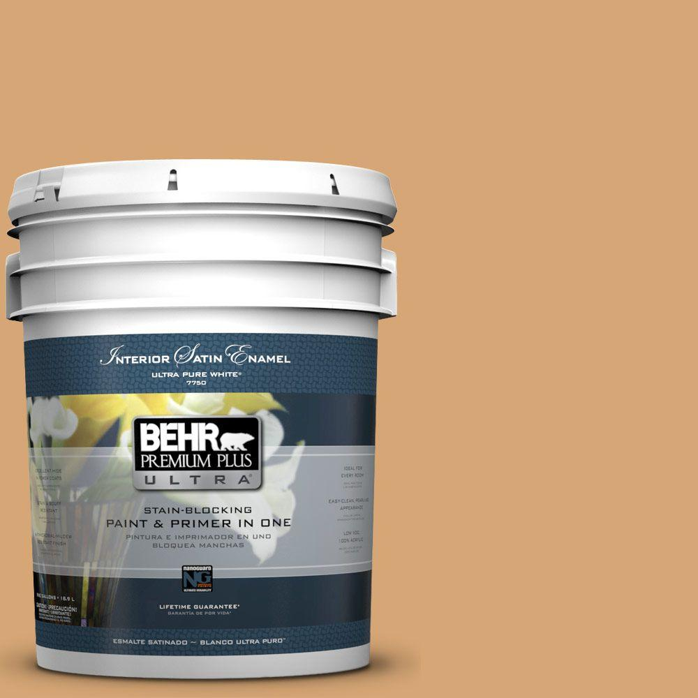 5-gal. #M250-4 Cake Spice Satin Enamel Interior Paint
