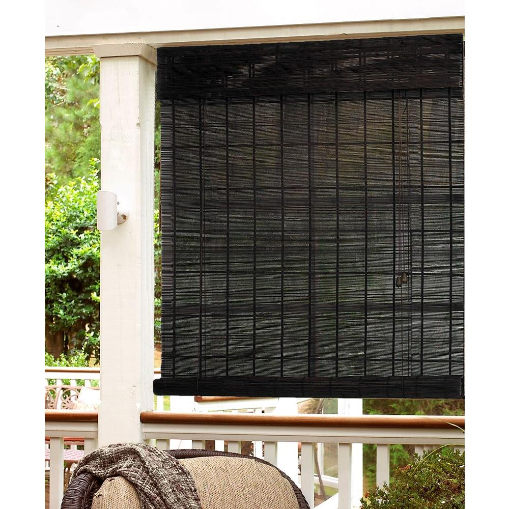 roman shades for sale cordless roman radiance 72 in espresso horizontal natural
