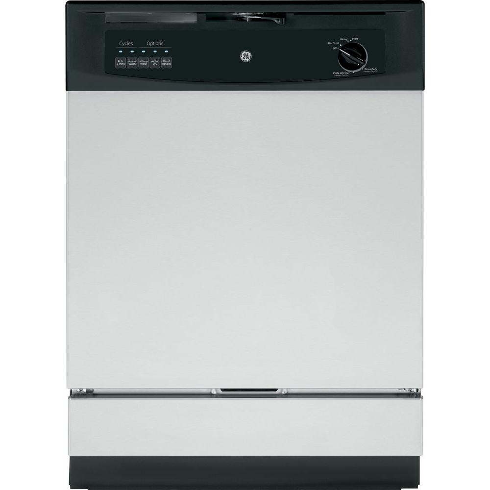 GE Front Control Dishwasher in Stainless Steel