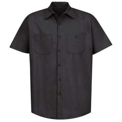 Men's Size 2XL Black Industrial Work Shirt