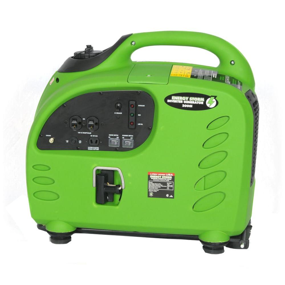 LIFAN Energy Storm 2,000-Watt 125cc Gasoline Powered Inverter Generator