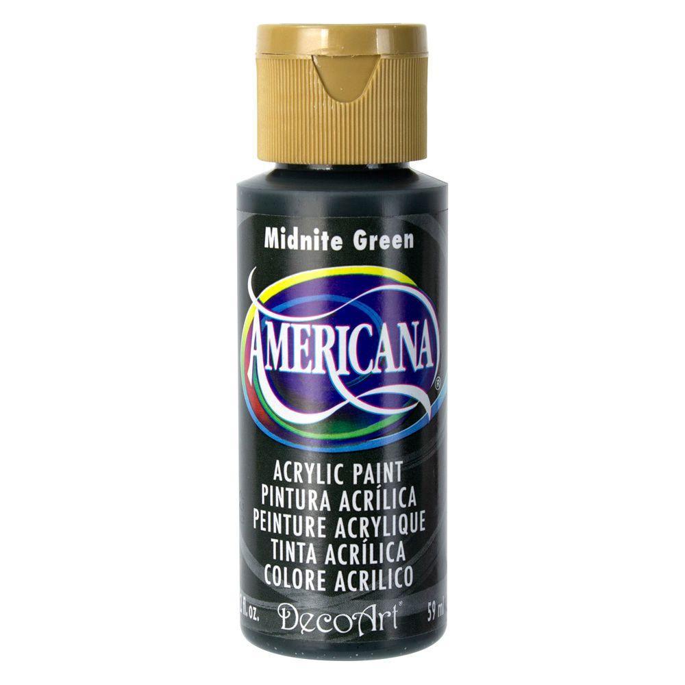 Americana 2 oz. Midnite Green Acrylic Paint