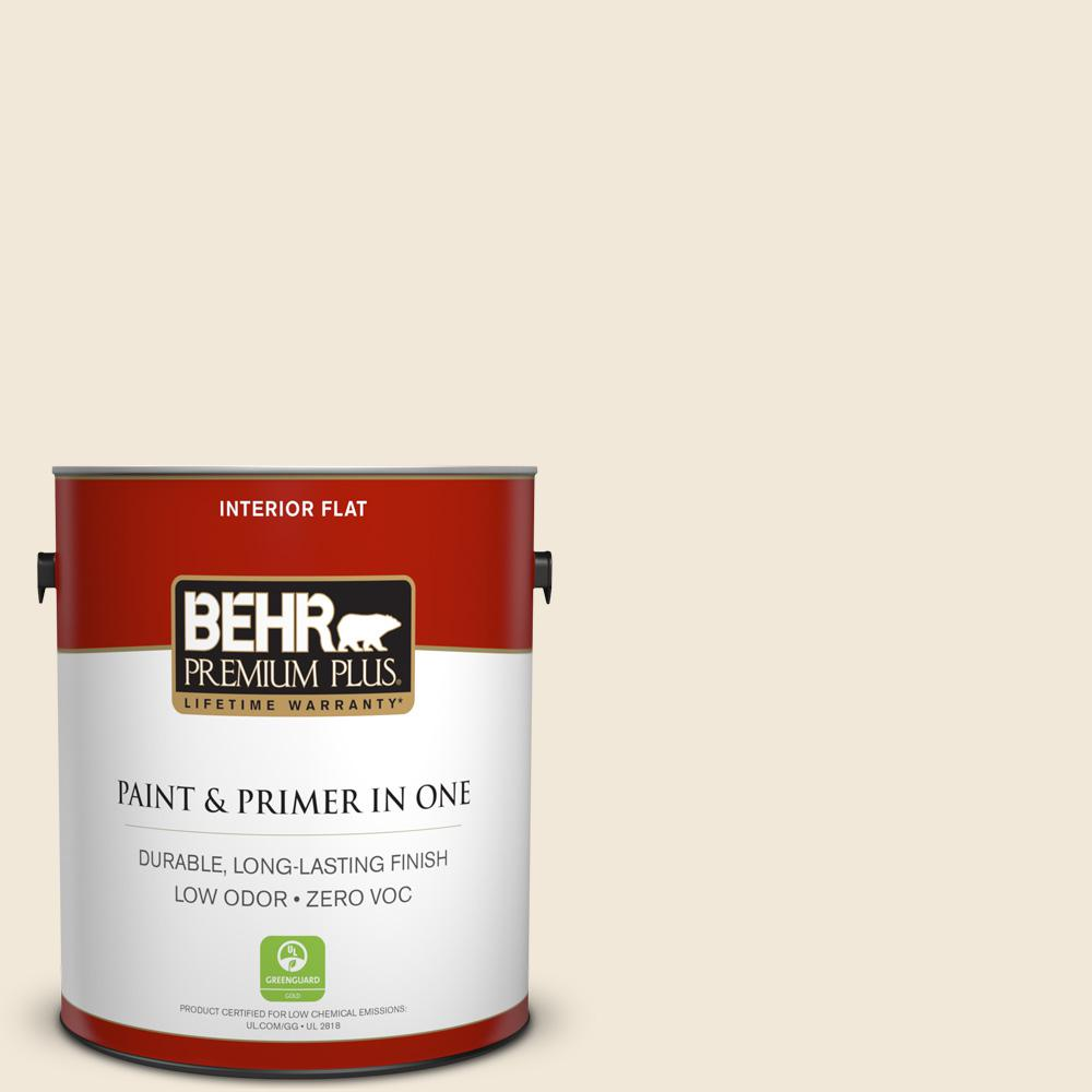 BEHR Premium Plus 1-gal. #740C-1 Seaside Sand Zero VOC Flat Interior Paint