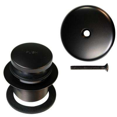 1-1/2 in NPSM Coarse Thread Tip-Toe Bathtub Drain Plug with 1-Hole Overflow Faceplate in Oil Rubbed Bronze