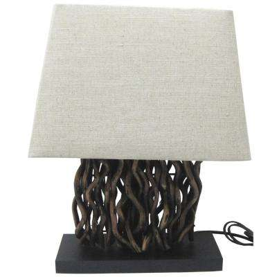 21.50 in. Driftwood Table Lamp with Shade