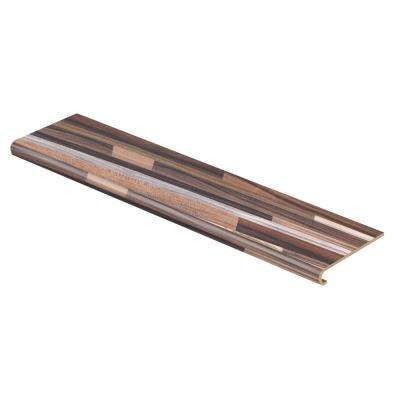 Random Block Plum/Exotic Butcher Block 47 in. L x 12-1/8 in. D x 1-11/16 in. H Laminate to Cover Stairs 1 in. Thick
