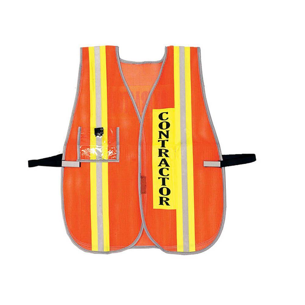 Size X-Large Plastic Mesh Contractor Vest