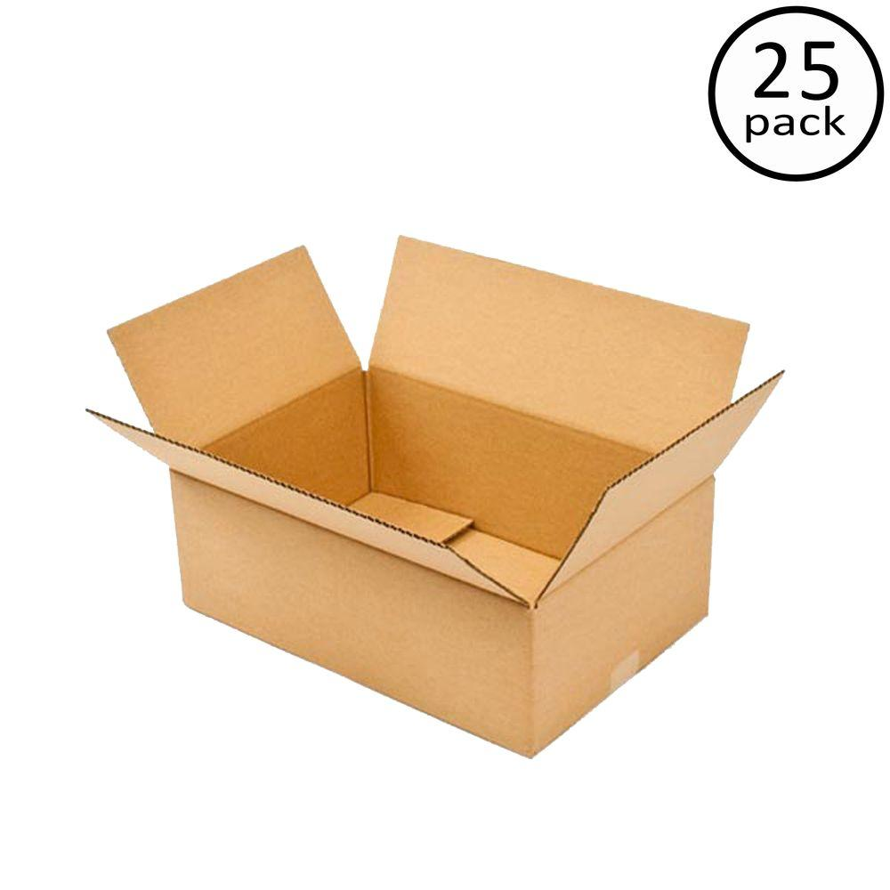 Plain Brown Box 18 in. x 12 in. x 6 in. 25 Moving Box Bundle