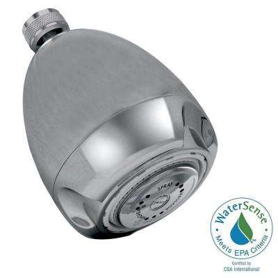 3-Spray 3 in. Niagara Earth Fixed Mount Showerhead in Chrome