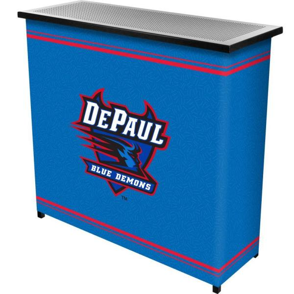 DePaul University 2-Shelf Black Bar with Case