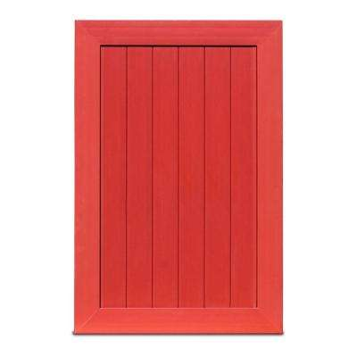 Pro Series 4 ft. W x 6 ft. H Barn Red Vinyl Anaheim Privacy Fence Gate