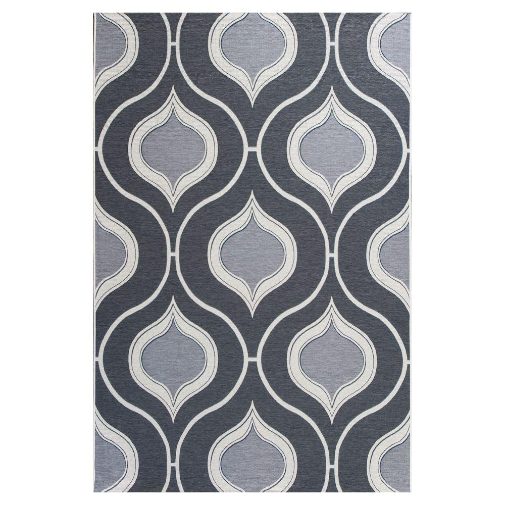 Kas Rugs Summer Trellis Grey/Ivory 6 ft. 9 in. x 9 ft. 6 in. Area Rug