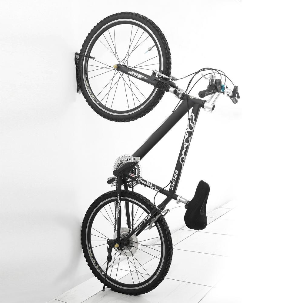 2 x WALL MOUNTED CYCLE STORAGE BIKE HANGING HOOK BICYCLE RACK GARAGE TOOLS SHED