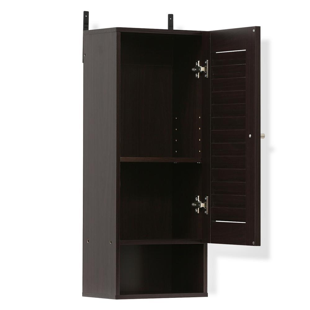Exceptionnel Furinno Indo Espresso Slim Wall Cabinet