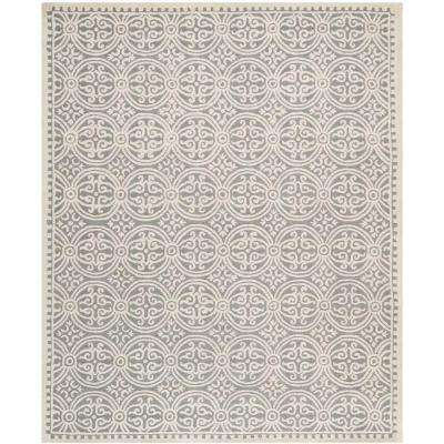 Cambridge Silver/Ivory 6 ft. x 9 ft. Area Rug